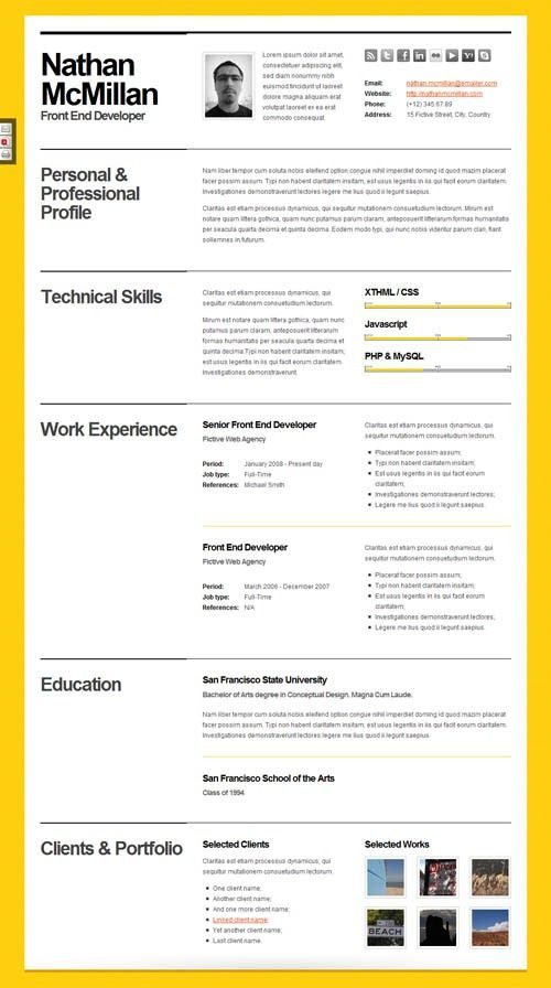 computer programmer resume example. download rayhan html resume ...