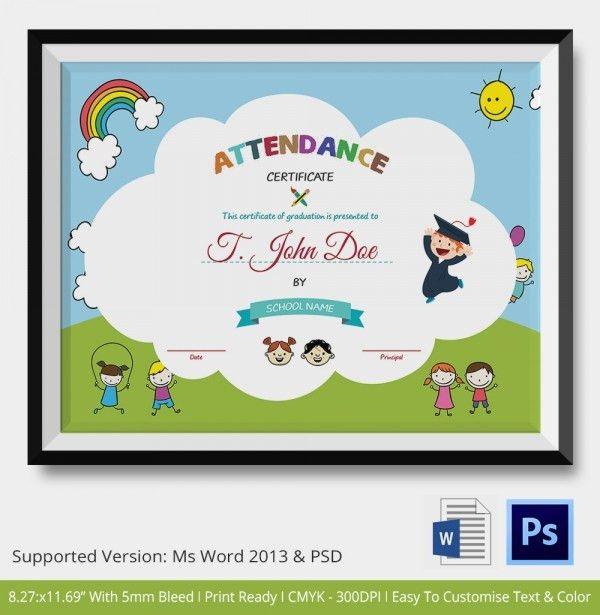 Attendance Certificate Template – 24+ Free Word, PDF Documents ...