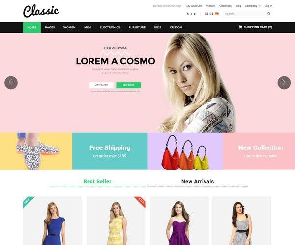35+ Fashion HTML5 Website Templates
