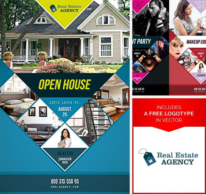 Stockpsd.net – Free PSD Flyers, Brochures and more   OPEN HOUSE ...