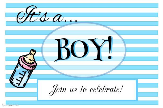 It's a BOY! Baby Announcement template | PosterMyWall