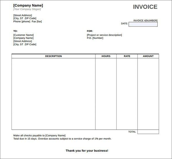 Invoice Template Download Pdf | free printable invoice
