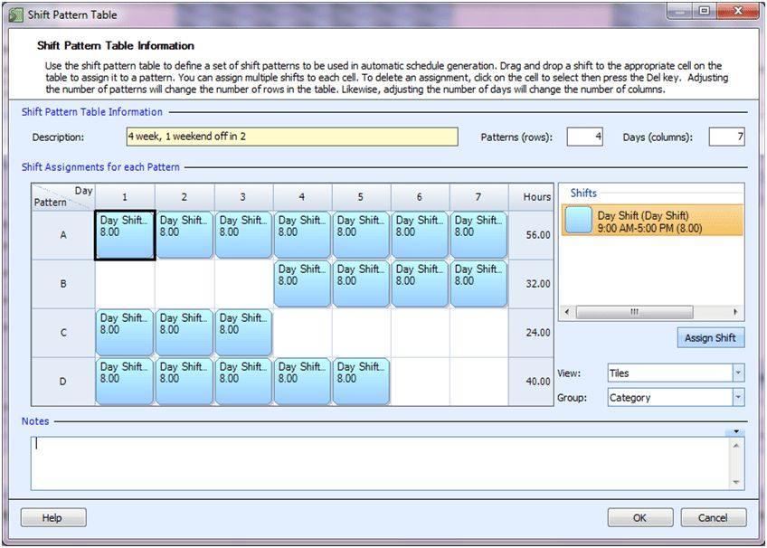 Employee Scheduling Example: 8 hours a day, 7 days a week, 2 ...