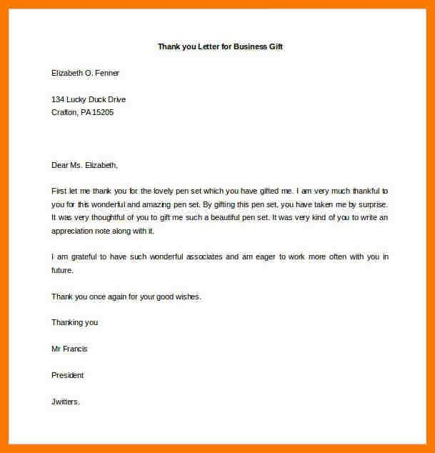 5+ thank you letter for gift | park-attendant