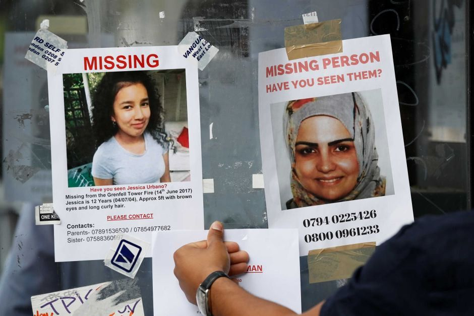 Missing persons posters after Grenfell Tower fire - ABC News ...