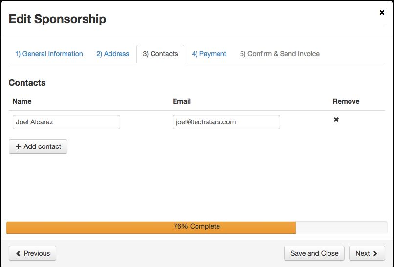 SWOOP-The Sponsorships Tab & Invoicing : Techstars Startup Weekend ...