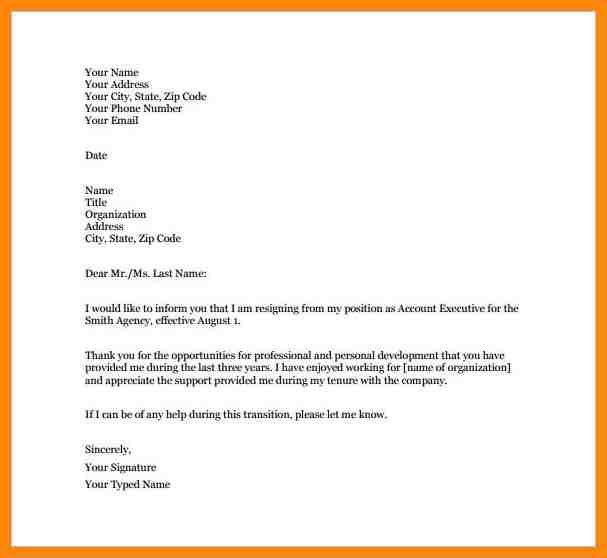 8+ resignation letter sample format | nurse resumed