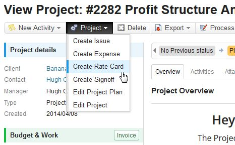 New Feature: Project Rate Cards! | Accelo