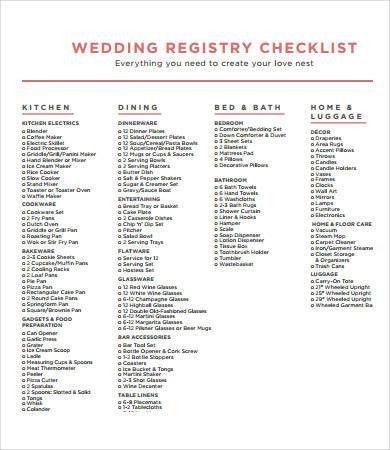 Printable Wedding Checklist - 9+ Free PDF Documents Download ...