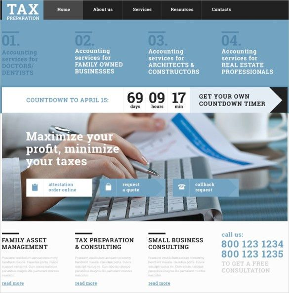 28+ Amazing Accountant Website Themes & Templates | Free & Premium ...