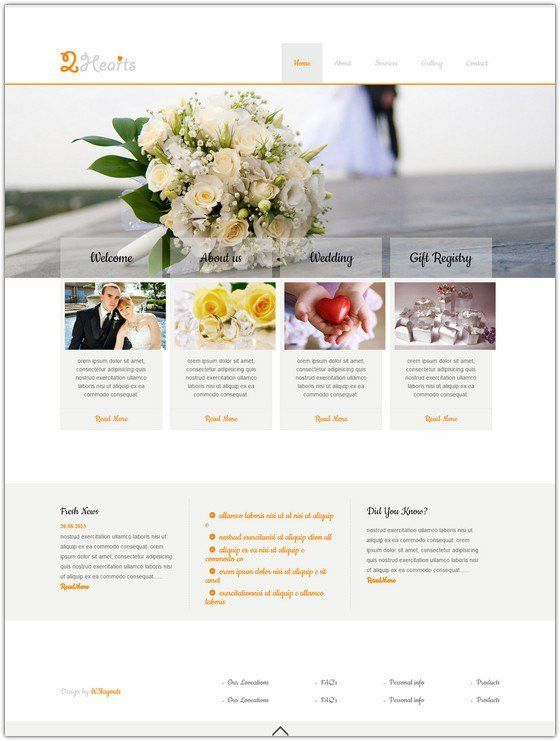 10+ Free Wedding HTML5 & CSS3 Templates - Web Creative All
