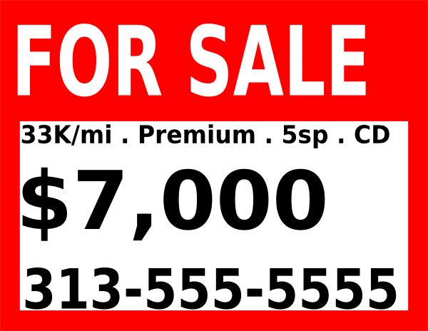 For Sale Sign Clip Art at Clker.com - vector clip art online ...