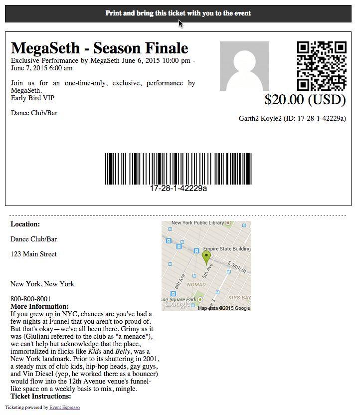Concert Online Registration & Ticketing - Event Smart
