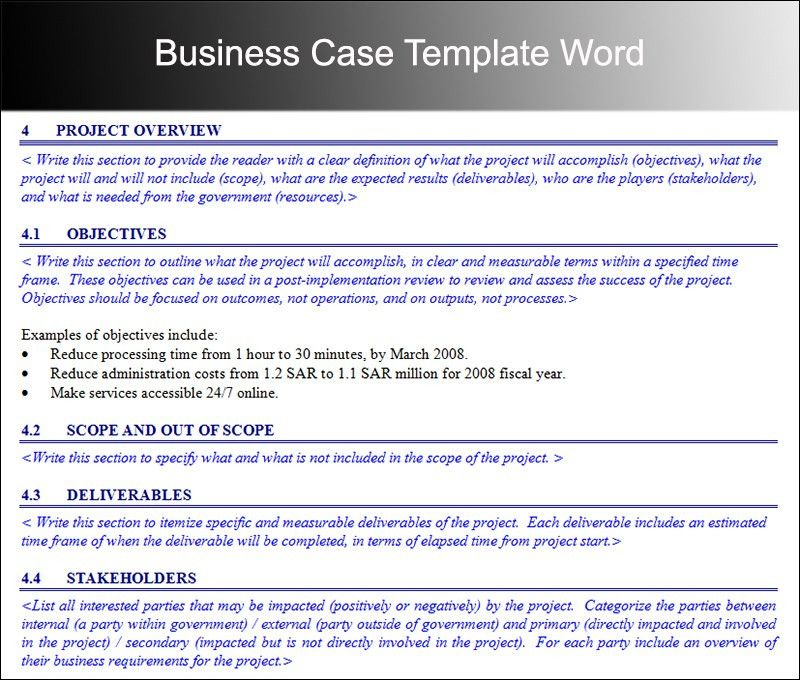Business Case Template - Free Word, PDF Documents | Creative Template