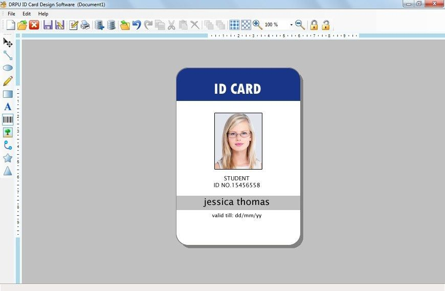 Download Picture Id Cards Photoshop Template Software: School ...