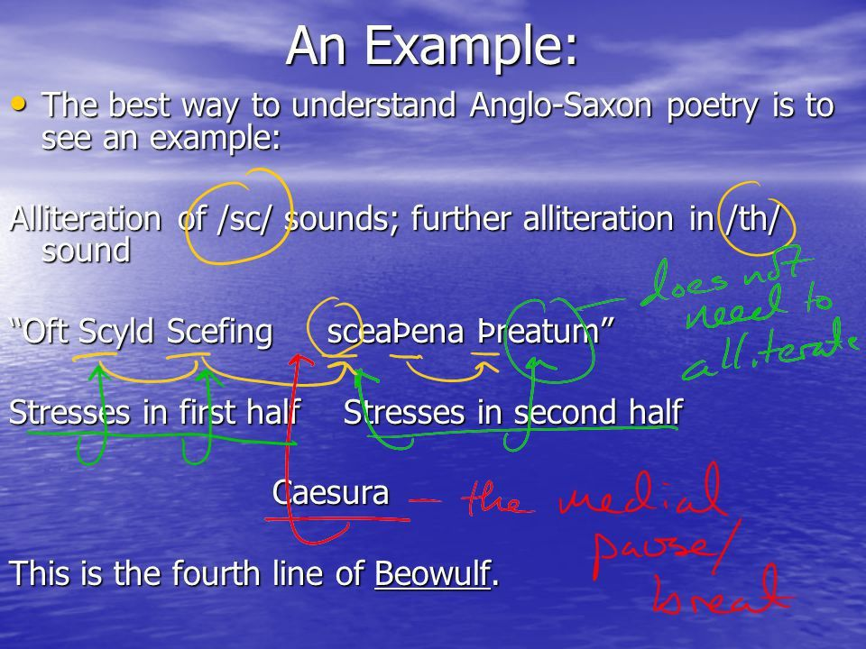 Anglo-Saxon Poetry. What NOT to Know According to the editors of ...