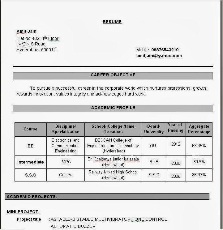 Fascinating Sample Resume For Assistant Professor In Engineering ...