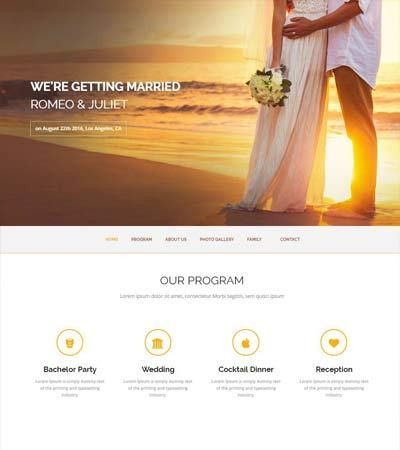 HTML Bootstrap Wedding Website Template - WebThemez