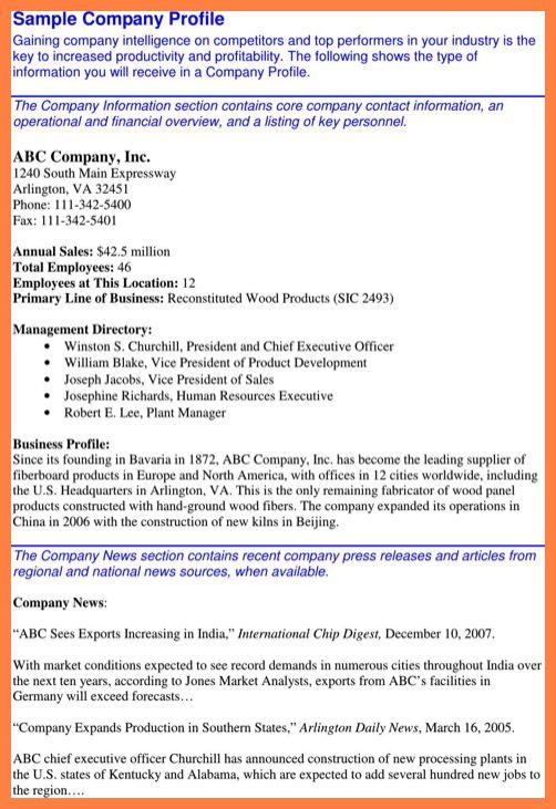 Company business profile sample sample business profile 5 10 company profile samples company letterhead altavistaventures Choice Image