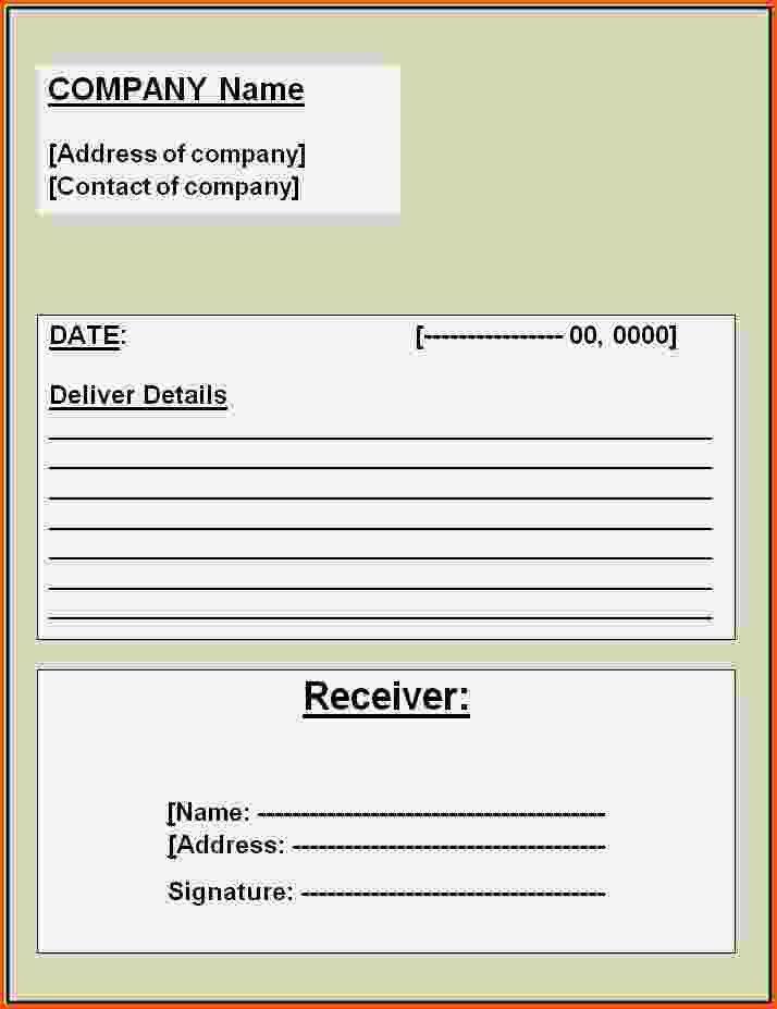 6+ receipt template word   Survey Template Words