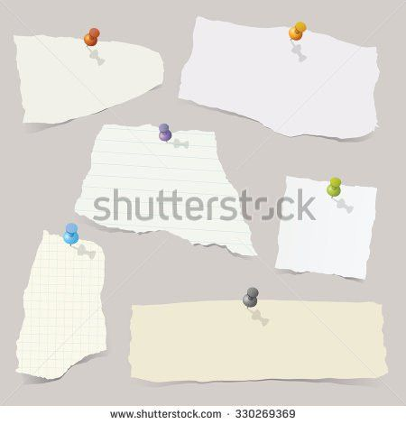 Collection Various Vector Note Papers Stock Vector 251770174 ...