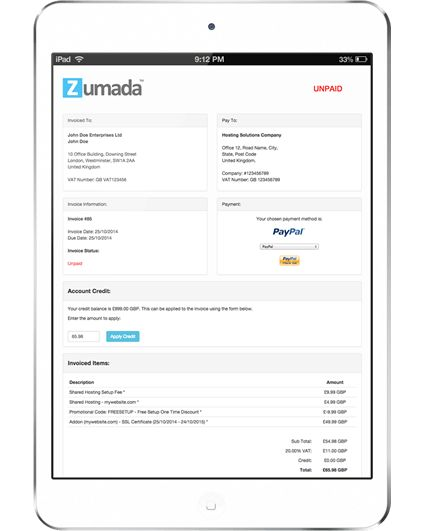 Responsive Invoices and Quotes for WHMCS - WHMCS Themes