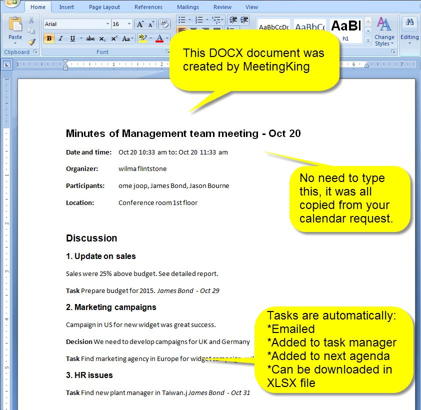 New: Meeting Minutes and Agenda in DOCX format | MeetingKing