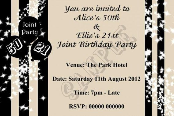 Joint Birthday Party Invitation Wording For Adults | oxsvitation.com