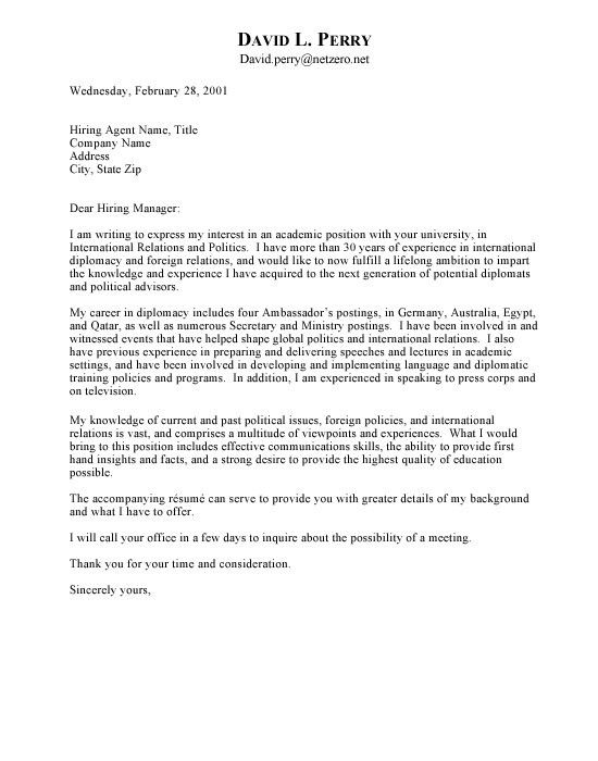 free letter of interest templates ambassador cover letter - Tips On Writing A Cover Letter