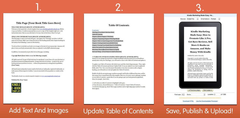 Download Kindle eBook Template For Microsoft Word | Simple ...