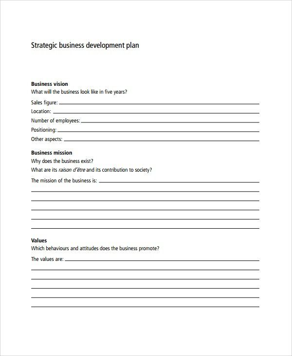 Sample Business Development Plan Template - 6+ Free Documents ...