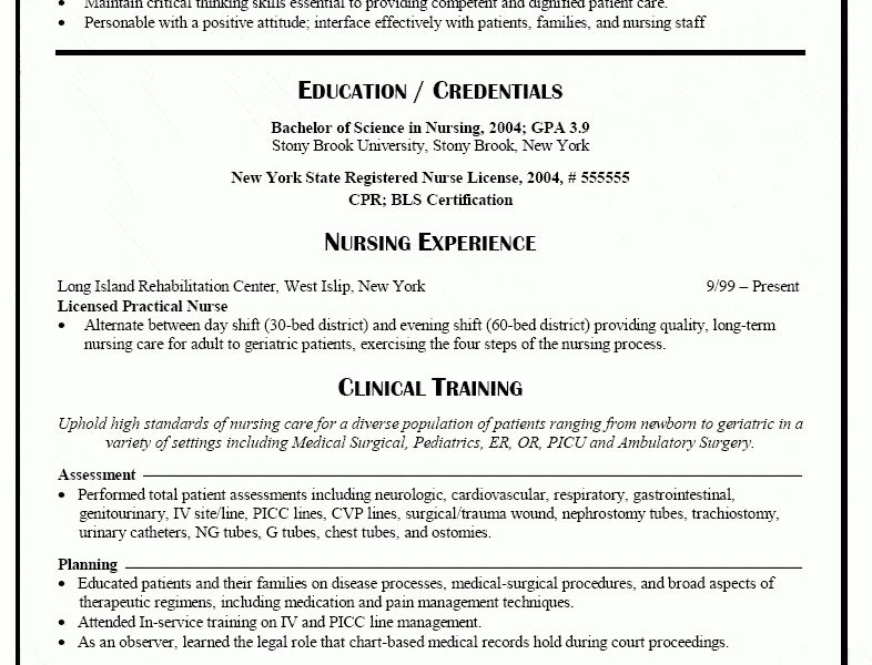 Classy Idea New Grad Nursing Resume 9 Nurse Resume - Resume Example