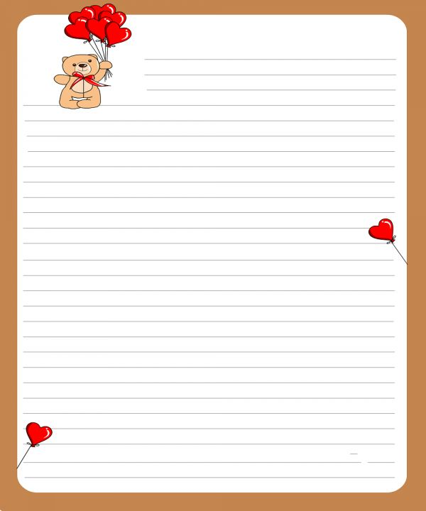 Valentine Letter Template. ms word valentine s day party ...