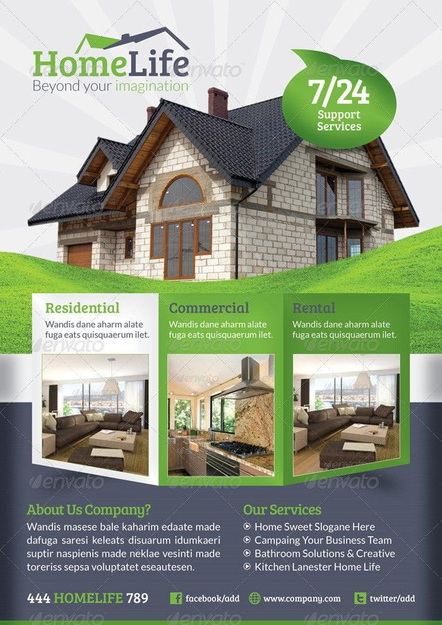Real Estate Flyer Template by grafilker | GraphicRiver