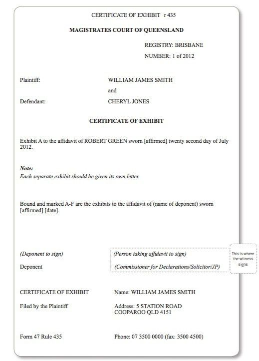 Preparing Affidavits for the Magistrates Court – Queensland Law ...
