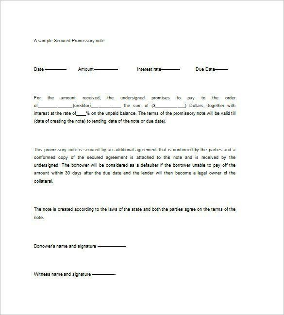 Demand Promissory Note Template, Free Promissory Note Templates .  Demand Note Template
