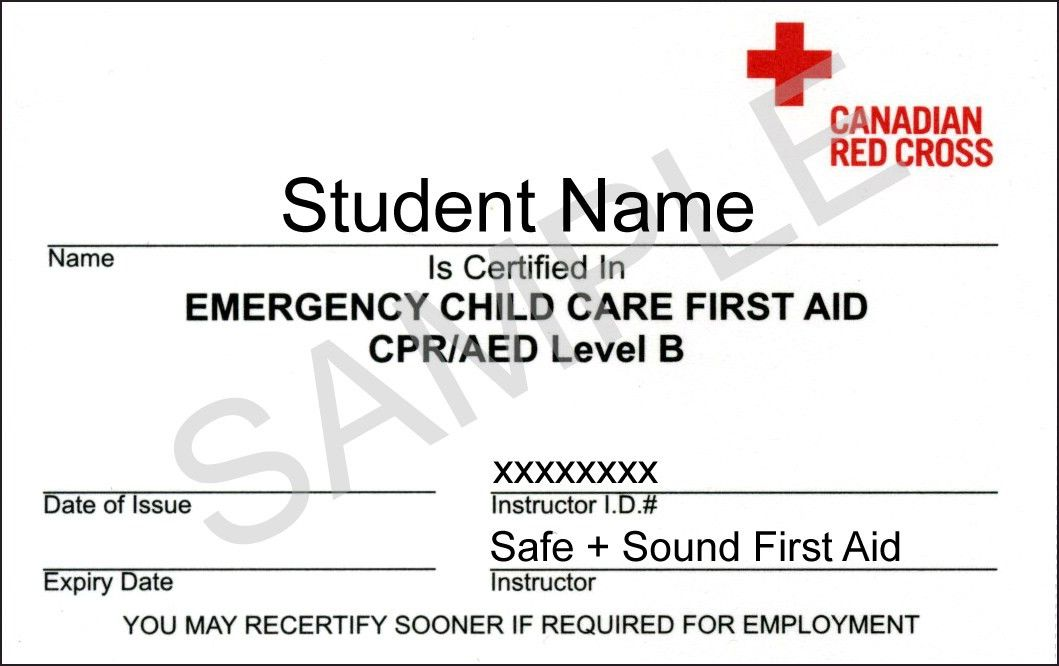 First aid certificate template first aid training certificate emergency child care first aid coquitlam first aid training yadclub Choice Image