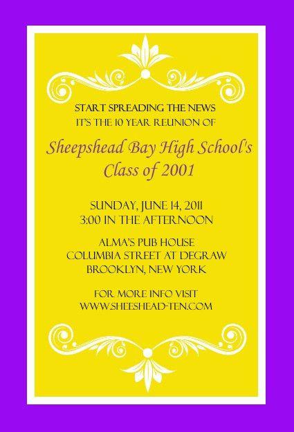 Bright Colored Class Reunion Invitation by PurpleTrail.com | Party ...