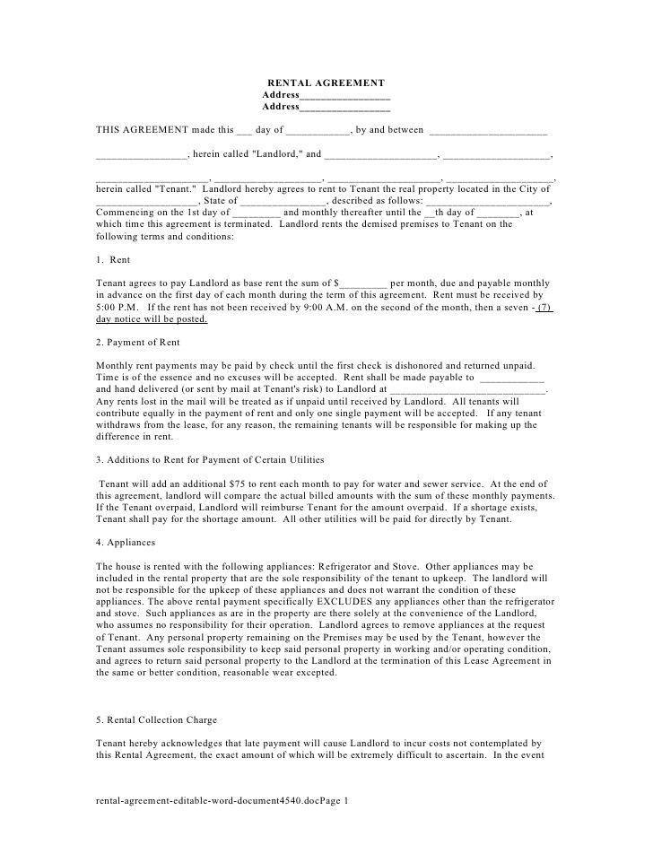 Rental Agreement In Doc. Motor-Vehicle-Simple-Rental-Agreement-Doc ...