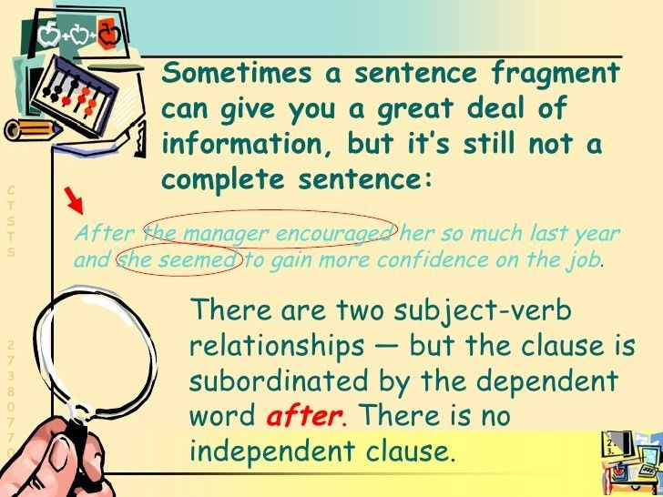 Grammar: Sentence Fragments