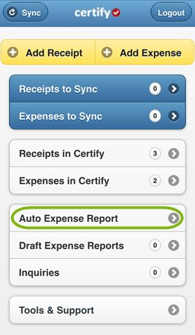 Creating an Expense Report on Certify Mobile – Certify Help Center