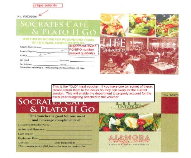 7 Free Sample Food Voucher Templates – Printable Samples