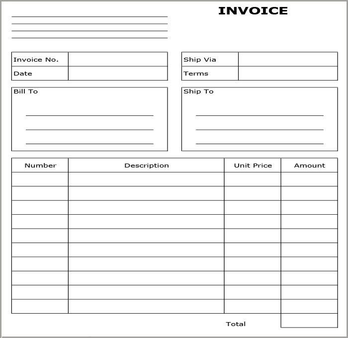 Invoice Format Template - 30+ Free Word, PDF Documents Download ...