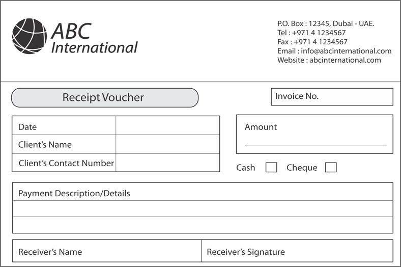 Receipt voucher Printing in Dubai, Abu Dhabi