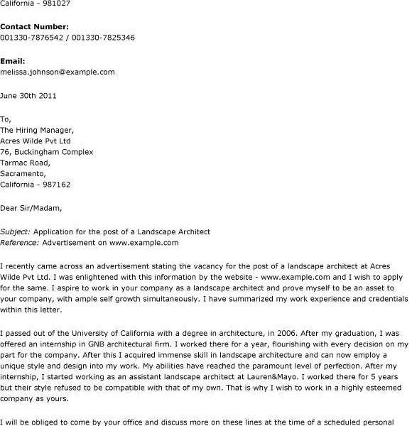 Enjoyable Architecture Cover Letter Sample 8 Architect Cover ...