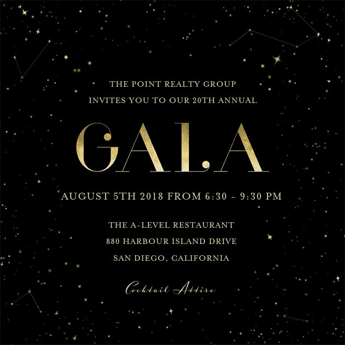 Galaxy Gala Invitations | Greenvelope.com