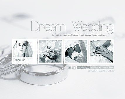 Wedding Planner website template | Website Templates | Pinterest ...