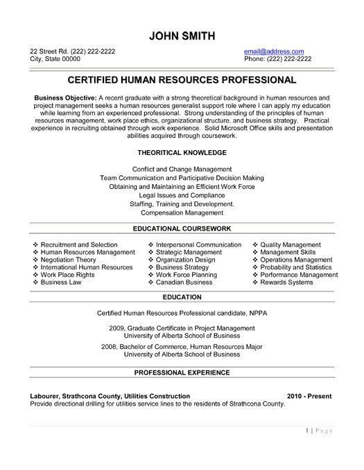 federal human resource specialist resume human resources assistant ...