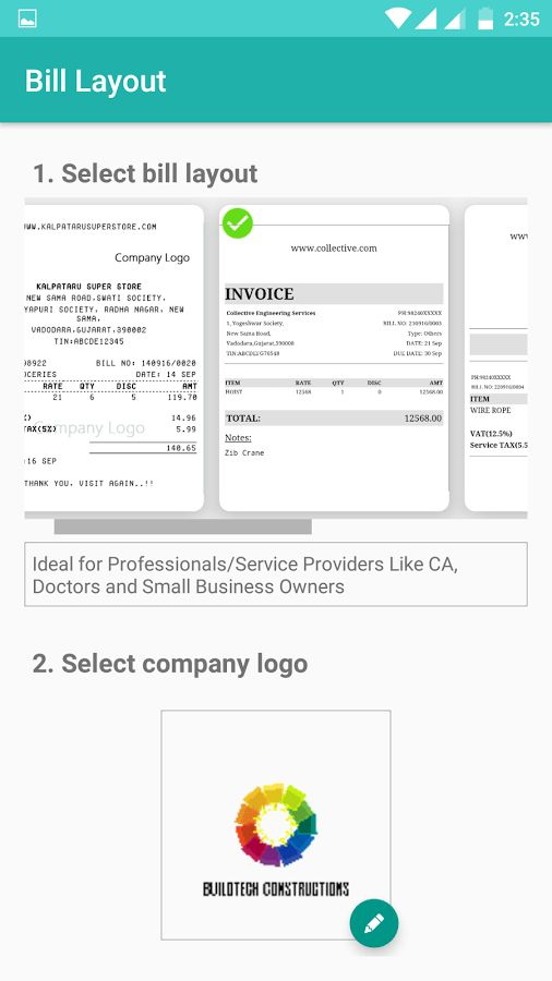 Invoice and Estimates - Fast and Easy - Android Apps on Google Play