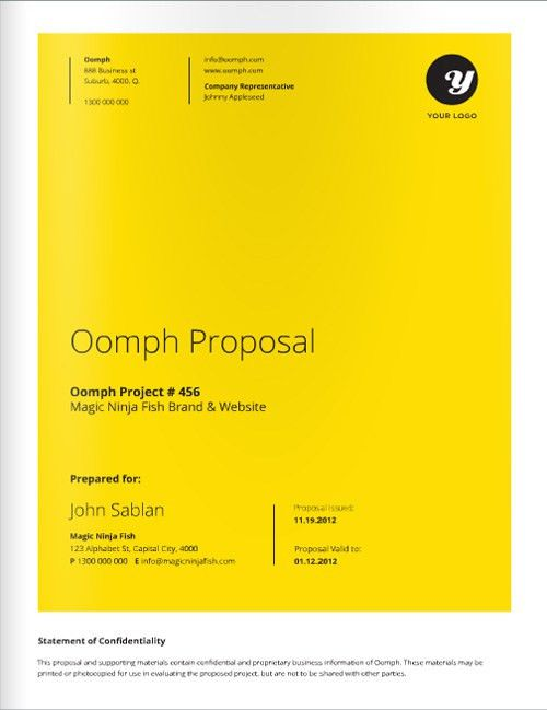 Freelance Designer Proposal Template for download at a great deal ...